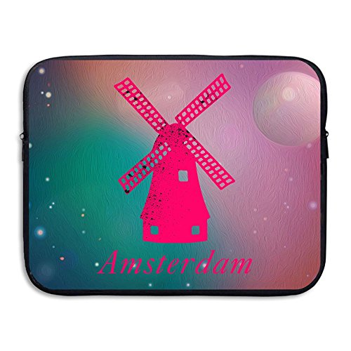 Cute Pink Amsterdam Windmill Soft Water-proof Neoprene Carrying Case Sleeve Bag For Laptop 13 - Amsterdam Sunglasses