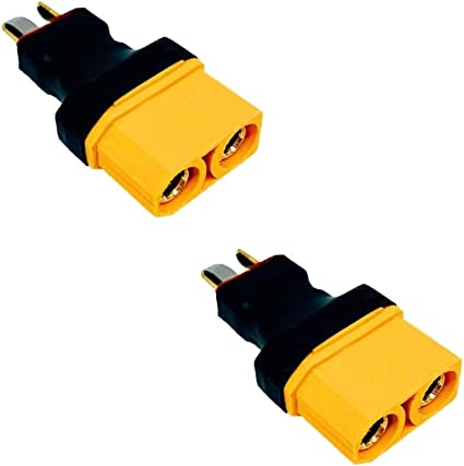 Pack of 2 XT90 Male To XT60 Female Connector Adapter for RC LiPo Battery