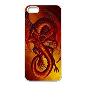 WJHSSB Diy Red Dragon Selling Hard Back Case for Iphone 5 5g 5s
