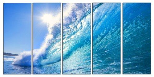 Amazon.com: Wave seascape print on canvas, beach wave canvas print ...
