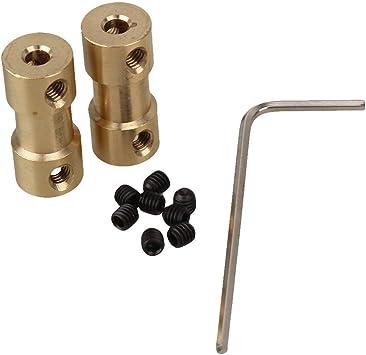 2 x Messing Welle Motor Flexible Kupplung Koppler-Verbindungs ??3mm Für RC bis 3