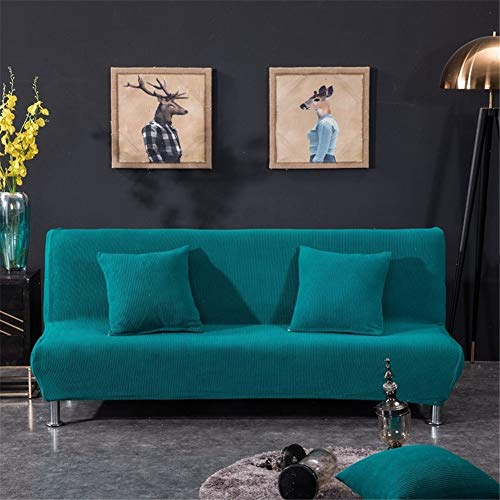 Armless 2 Seat Sofa - HKDD Solid Color Couch Cover Armless Sofa Covers Couch Chair Cover Thicken Knit Elastic Sofa slipcover Used for Living Room 1 2 3 4 Seats 1 Piece Set
