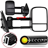 ECCPP Towing Mirror Replacement fit for 2007-2013 Chevy GMC Silverado Sierra (Just 07 New-Body Style) Power Heated Side Pair Mirrors