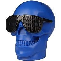 Crâne Bluetooth Haut-Parleur Power Bank USB TF sans Fil Super Bass Stéréo Sound Cool Skull Oeuvre Haut-Parleur Light pour La Fête À La Maison/Bureau / Business/Chambre À Coucher/en Plein Air