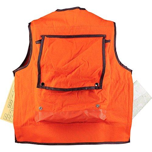 JIM-GEM Pro 10-Pocket Cotton Army Duck Cruiser Vest, X-Large, 43-46, Orange by Jim Gem (Image #2)