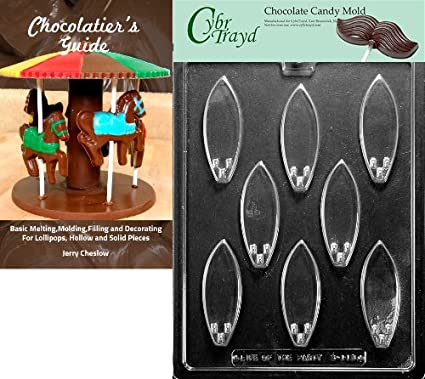 21ac5bb7b13a25 Image Unavailable. Image not available for. Color  Cybrtrayd Surf Board  Sports Chocolate Candy Mold with Chocolatier s Guide Instructions ...