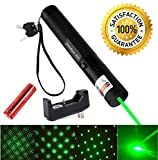 9. Sandeye Green Laser Pointer High Power Hunting Rifle Scope Sight Laser Pen, Remote Laser Pointer Travel Outdoor Tactical Flashlights, LED Interactive Baton Funny Laser Pointer Toys for Cats/Dogs