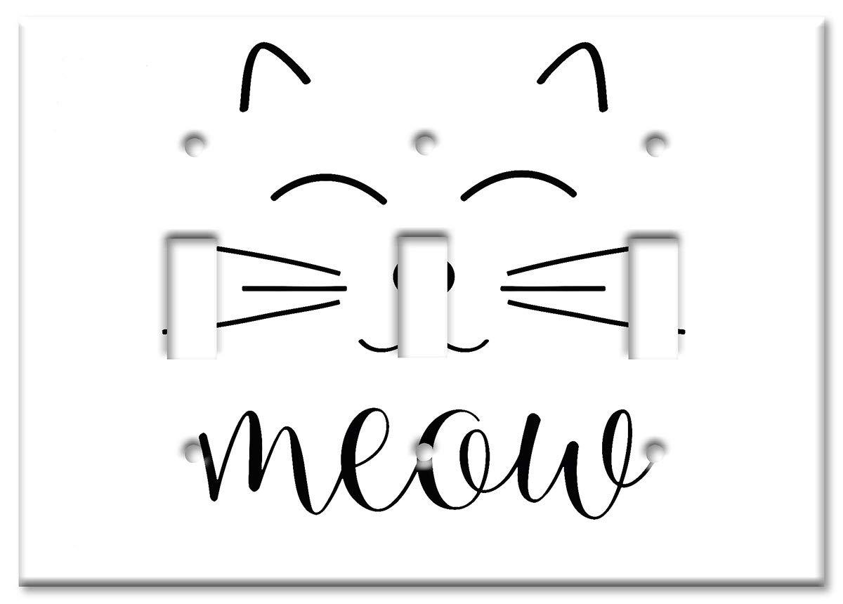 Switch//Wall Plate Art Plates Brand Single Gang Rocker Decora Meow