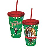 ICUP National Lampoon's Christmas Vacation The Happiest Cup with Straw, Clear
