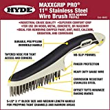 HYDE 46842 Stainless Steel Wire Brush with narrow