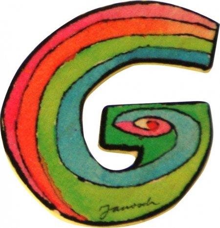 6cm Janosch Buchstaben Holzbuchstaben G ca