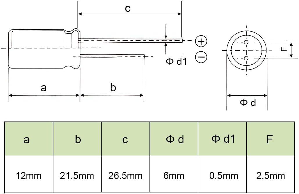 sourcing map Radial Condensateur /électrolytique 3.3uF 400V 105/°C Vie 2000H 8x12mm Noir 50pc