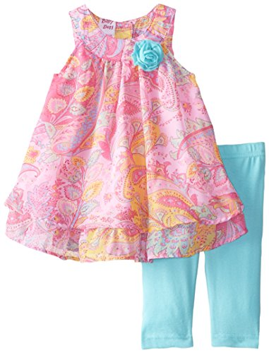 Butterflies Capri Girls Baby Clothes (Blueberi Boulevard Baby-Girls Newborn Butterfly Print Capri Set, Multi, 3-6 Months)