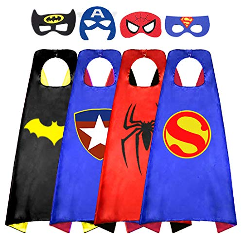 Superhero Cape for Kids, Double-Sided Satin Capes