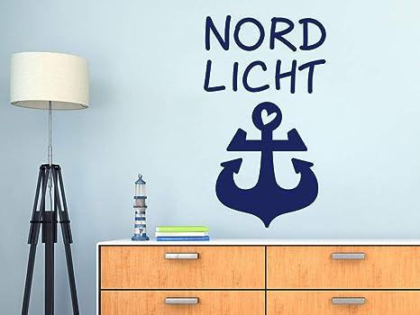 GRAZDesign Wandtattoo Anker Nordlicht - Maritime Deko für ...