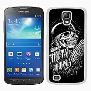 Metal Mulisha 2 White Samsung Galaxy S4 Active i9295 Screen Phone Case Grace and Fashion Design