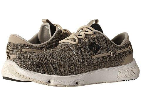 (スペリートップサイダー) SPERRY TOPSIDER メンズカジュアルシューズスニーカー靴 7 Seas 3-Eye Knit [並行輸入品] B074RR3S12 7.5 (25.5cm) M (D) Taupe