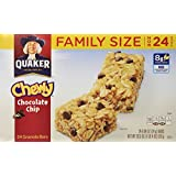 Quaker Chewy Chocolate Chip Granola Bars, 0.84 Oz, 24 Count