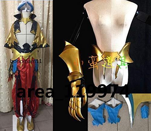 Fate/Grand Order ギルガメッシュ(キャスター)最終再臨 帽子付き☆コスプレ衣装+腰鎧+手甲+靴腕輪全セット