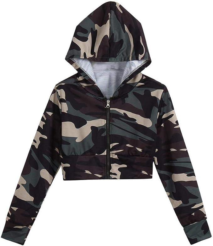 Army Langarm Shirt Sweatshirt Hoody Kapuzen 2 Damen Camouflage Pullover