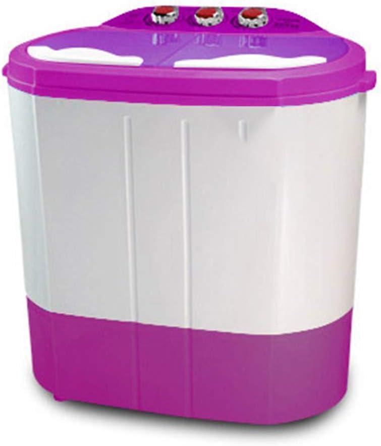 ELEXERT Lavadora Portatil,Mini Lavadora,de 4,5 KG / 6,5 KG de Capacidad Total Combinada y Secadora Bajo Consumo Silencioso Combo Compacta para Dormitorios de Camping Apartamentos,Purple