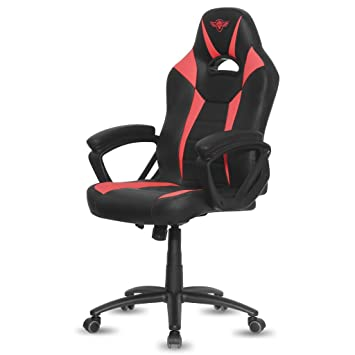 Spirit of Gamer Fighter Silla Gamer, Poliuretano, Rojo, 67 x 70 x 129 cm: Spirit: Amazon.es: Hogar
