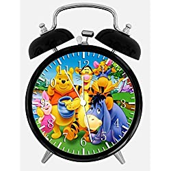 Winnie The Pooh Twin Bells Alarm Desk Clock 4 Home Office Decor W198 Nice for Gifts