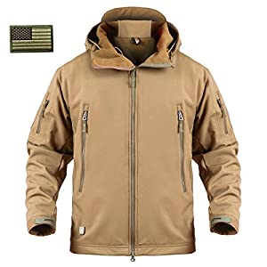 6. ReFire Gear Men's Army Special Ops Military Tactical Jacket Softshell Fleece Hooded Outdoor Coat