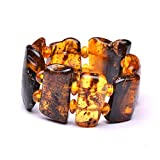 Very Massive (74g and 8.7'' long) Amber Bracelet - Unique Amber Bracelet - Certified Handmade Amber Jewelry