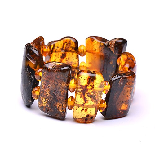 Very Massive (74g and 8.7'' long) Amber Bracelet - Unique Amber Bracelet - Certified Handmade Amber Jewelry by Genuine Amber