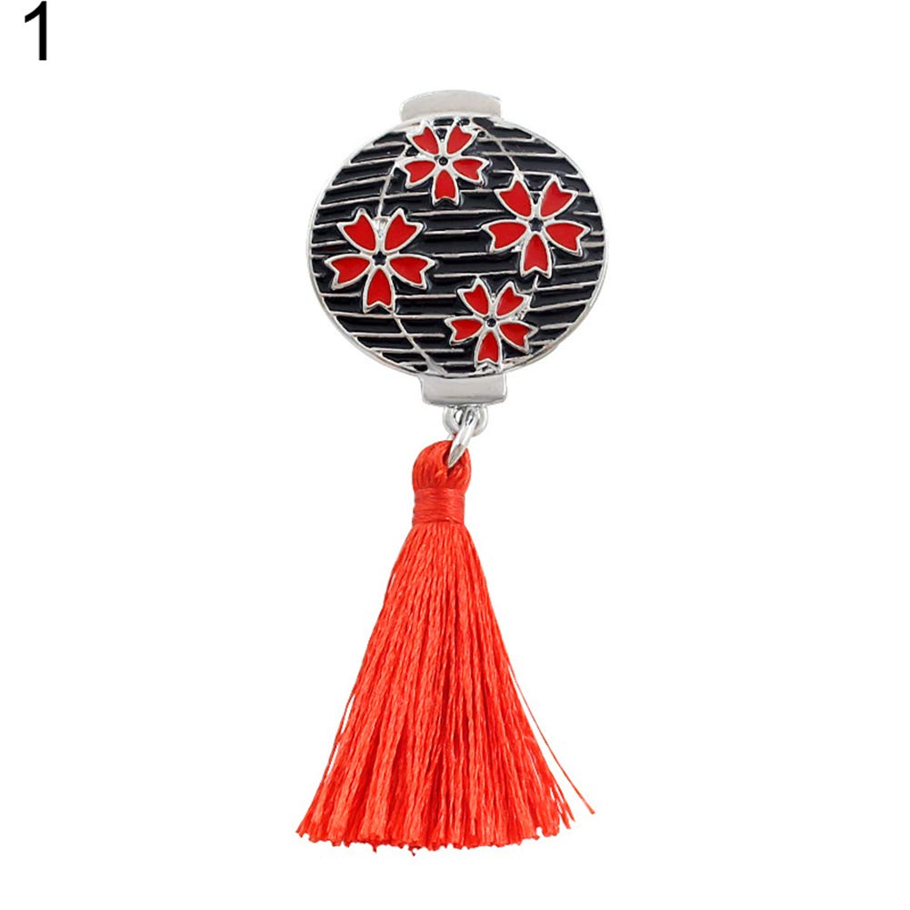 Finance Plans Japanese Style Cherry Blossom Lantern Fan Shape Button Lapel Pin Badge Brooch Scarf Brooch