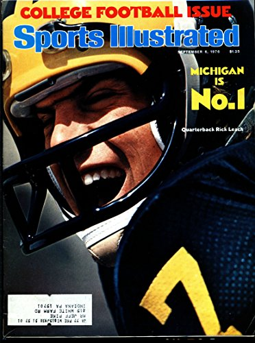1976-SEPT-6-SPORTS-ILLUSTRATED-COLLEGE-FOOTBALL-ISSUE-MICHIGAN-IS-NO-1-QUARTERBACK-RICK-LEACH-MID-GRADE