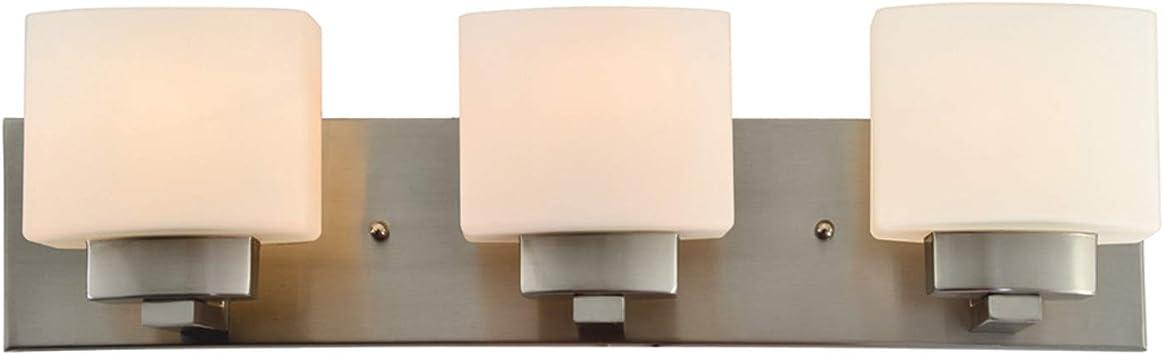 Dove Creek 3-Light Satin Nickel Bath Light by Design House