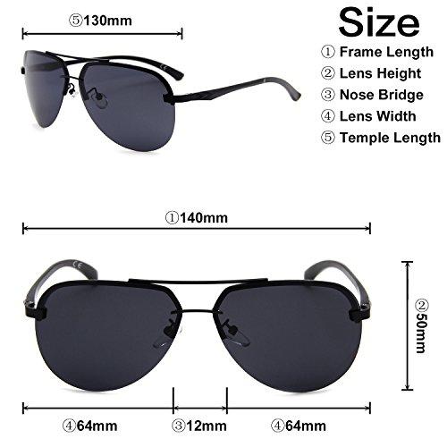 Aviador Clásico Reflejado AMZTM Gafas Sol Gris De Metal Completo Hombre Mujer Moda Lentes Para Polarizadas Montura Puente Doble Y q1dxxwHat