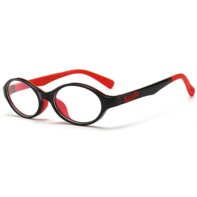 f8547b3daf4 Fantia Kids Eyeglasses Frame Children Silicone Boys Girls Fake Glasses Clear  Eye frames (C1)