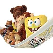 Toy Hammock White Large Toy Organizer For Stuffed Animals, Stuffed Toys Toy Storage (White)