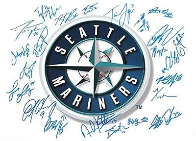 Seattle Mariners Multi Signed Logo 11x14 Photo 23 Autographs COA