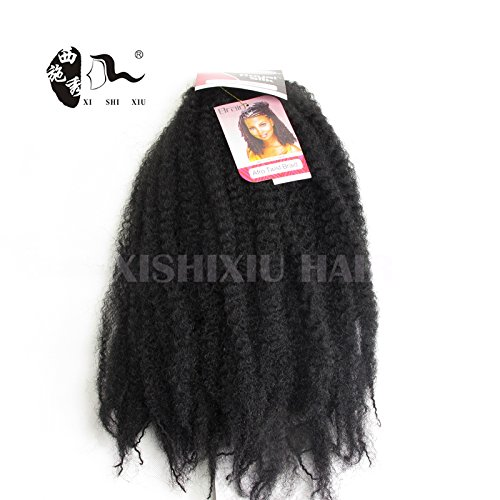 Beauty : XI SHI XIU Afro Kinky Twist Hair Crochet Braids Marley Braid Hair 18inch Senegalese Curly Crochet Synthetic Braiding Hair