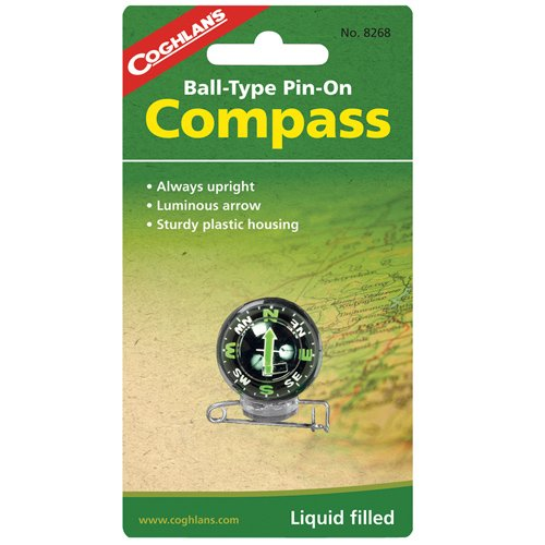 "Price comparison product image COMPASS PIN-ON 1-1/4""DIA by COGHLAN'S MfrPartNo 8268"