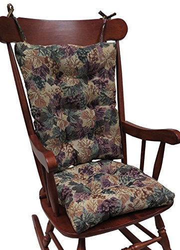 Klear Vu The Gripper Non-Slip Cabernet Tapestry Jumbo Rocking Chair ()
