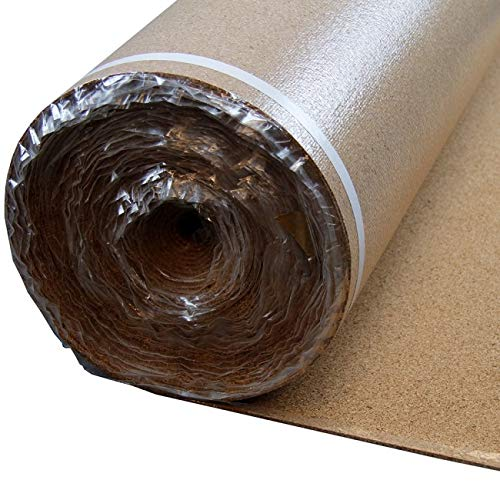 - Bestlaminate Premium Cork Vapor Barrier Flooring Underlayment 3mm - 200 sq.ft/roll