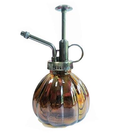 Calunce Mini Clear Glass Decorative Retro Water Spray Bottle/Plant Mister  200ml (Brown)
