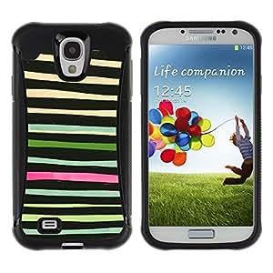 Suave TPU GEL Carcasa Funda Silicona Blando Estuche Caso de protección (para) Samsung Galaxy S4 IV I9500 / CECELL Phone case / / Hand Draw Lines Horizontal Hipster /