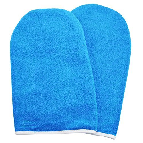 BF New Synthetic Cotton Blue Paraffin Wax Protection Hand Gloves Soak Off UV Gel Nail #391BU Beauties Factory