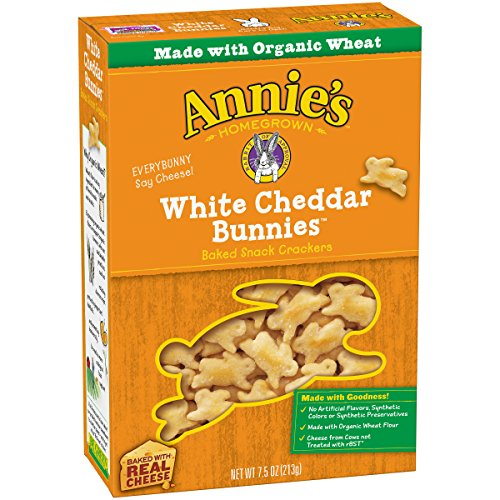 Annie's White Cheddar Bunnies, Baked Snack Crackers, 7.5 oz (Bunnies Baked Snack Crackers)