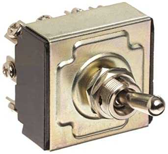 """Morris Products 70306 Toggle Switches, 4 Pole, On/Off/On, 1.44"""" Width, 1.31"""" Length, 0.80"""" Height"""