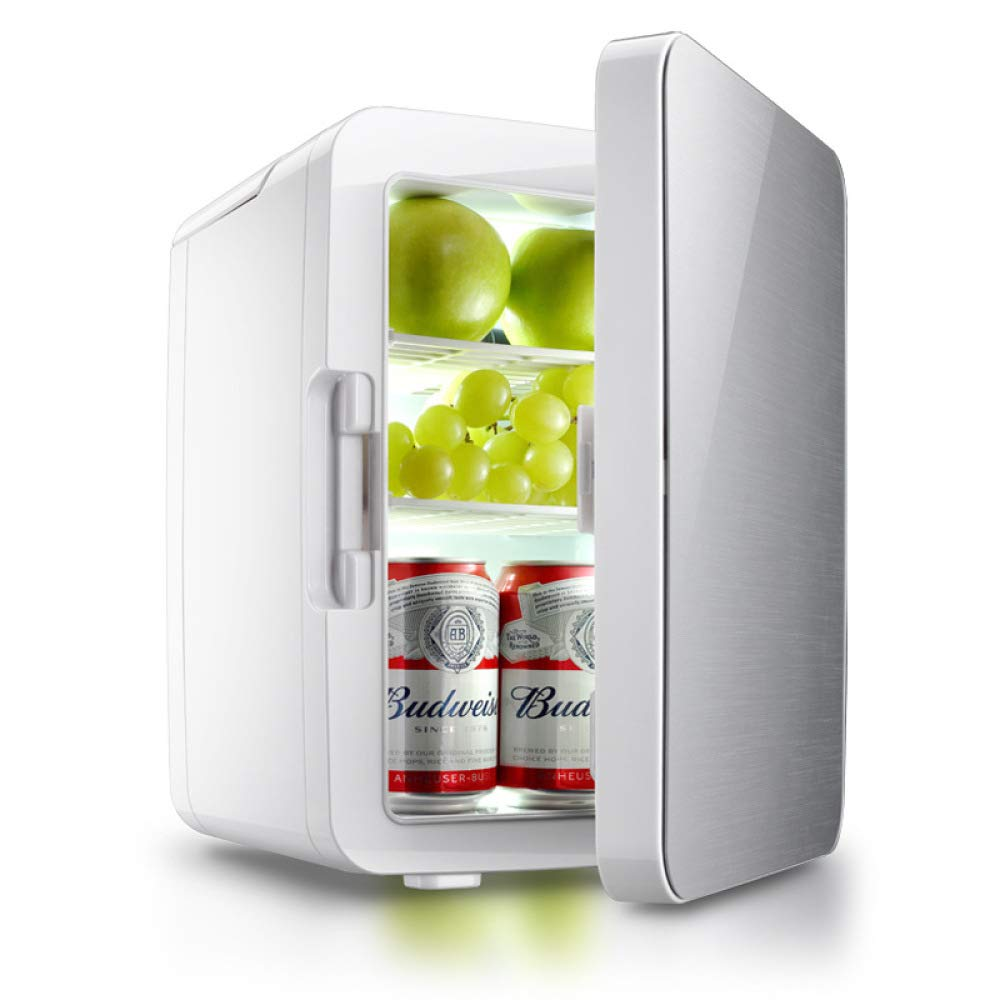 BBG 10L car Refrigerator, Mini Refrigerator for Home and car, Small Refrigerator for Household use, refrigerated Refrigerator, Cold and Warm Incubator,Silver,One Size by BBG (Image #1)