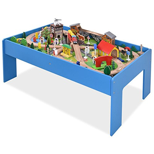 Premium Quality Non-Toxic 108 Piece Wooden Table Toy Train Railway Track Set for Children, Toddler, Kids, Birthdays, Christmas Gift Bachmann G Scale White Christmas