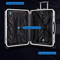 Color : Black, Size : 20 inches/34x25x50CM Bag Luggage Suitcase Aluminum Frame Trolley Case Universal Wheel Suitcase 20 Inch Tow Box Hand Luggage suitcases Bags, Cases & Sleeves