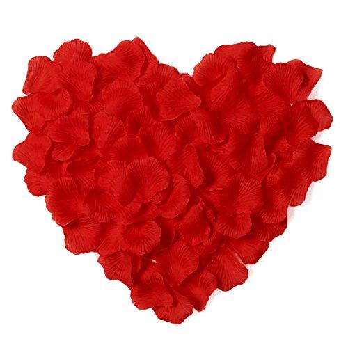 Younglove 1000 Pcs Silk Artificial Rose Petals Flowers